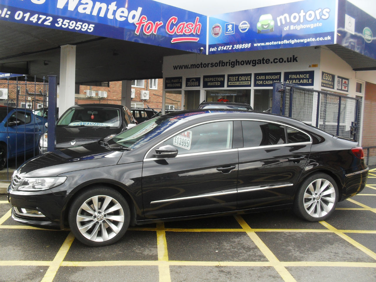 Volkswagen Cc 2.0 TDI BlueMotion Tech GT 4dr Coupe Diesel Black Met at Motors of Brighowgate Grimsby