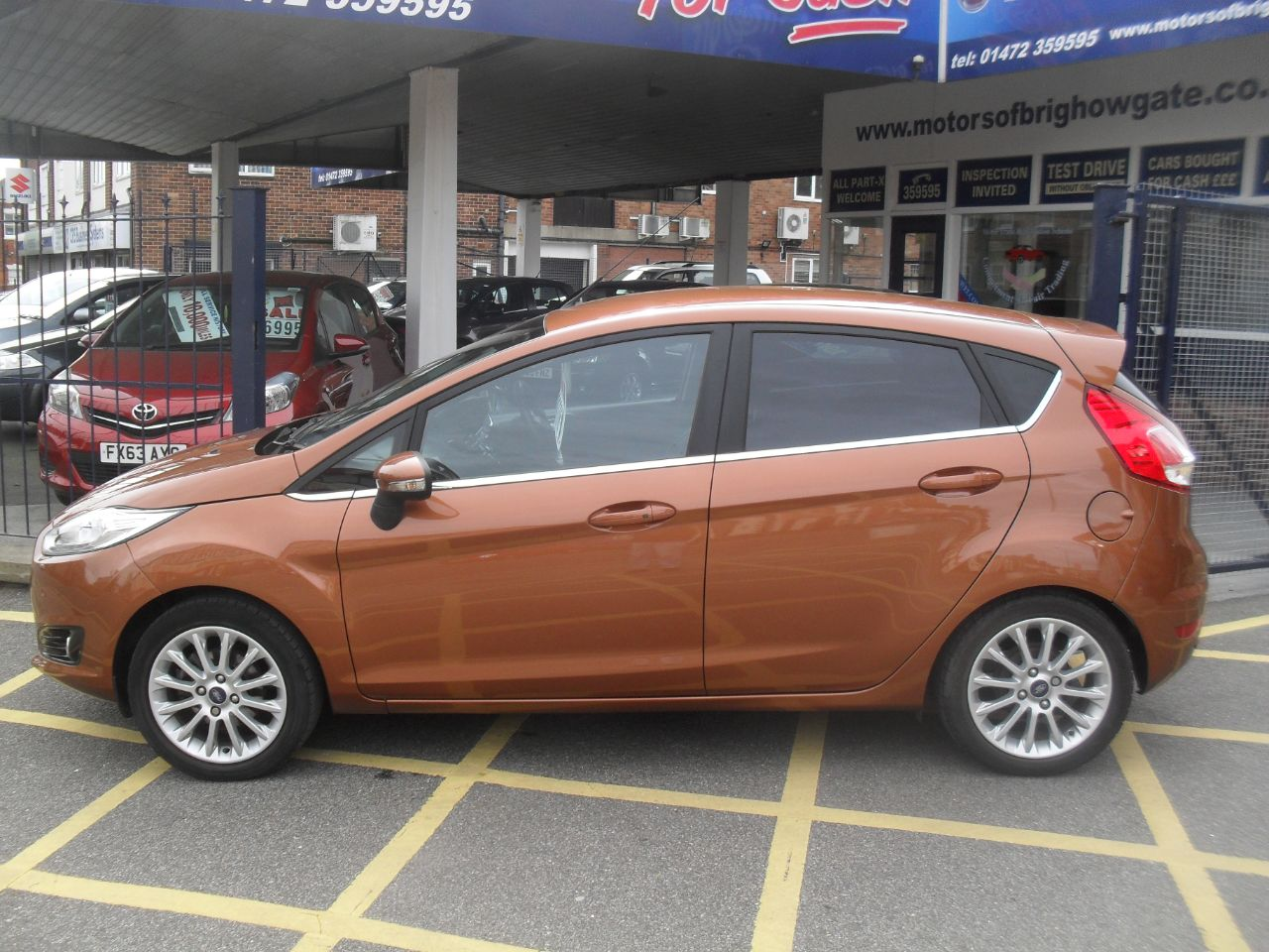Ford Fiesta 1.0 EcoBoost 125 Titanium X 5dr Hatchback Petrol Met Copper at Motors of Brighowgate Grimsby
