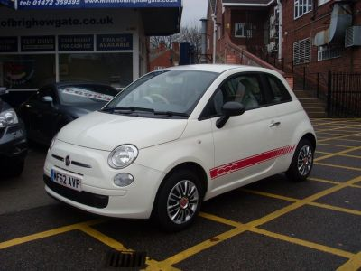 Fiat 500 1.2 Pop 3dr Hatchback Petrol WhiteFiat 500 1.2 Pop 3dr Hatchback Petrol White at Motors of Brighowgate Grimsby