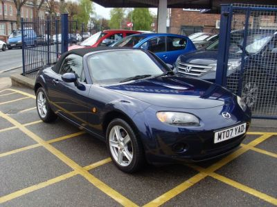Mazda MX-5 1.8i 2dr Convertible Petrol Stormy Blue MetallicMazda MX-5 1.8i 2dr Convertible Petrol Stormy Blue Metallic at Motors of Brighowgate Grimsby