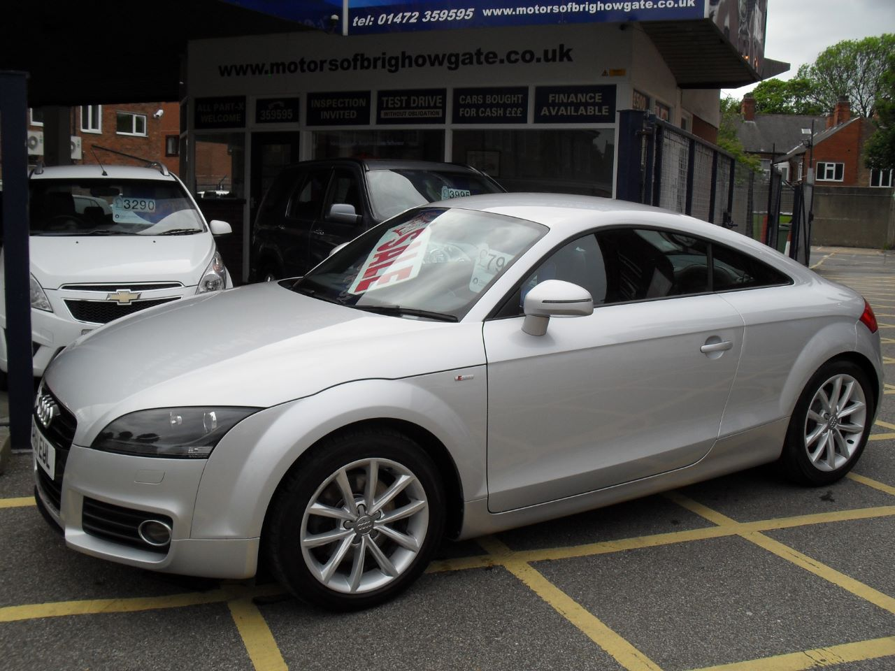 Audi TT 2.0 TDI Quattro Sport [2011] Coupe Diesel Silver at Motors of Brighowgate Grimsby